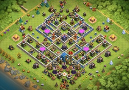 Base Layout for Protect Dark Elixir TH12, Proteger Elixir Oscuro Ayuntamiento 12