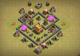 #0870 War Base Layout TH4, Diseño Guerra TH4
