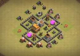 #0871 War Base Layout TH4, Diseño Guerra Ayuntamiento 4