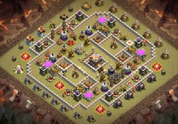 War and Trophy Base Layout TH11, Diseño Subida de Copas y de Guerra