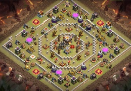Trophy and War Base Layout TH11, Guerra y Subida de Copas