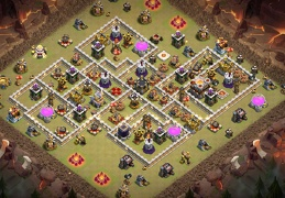 War Base Layout TH11, Diseño de Guerra Para Ayuntamiento 11
