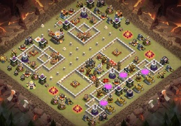 Good War Base layout TH11, Buen Diseño de Guerra Ayuntamiento 11