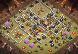 Trophy and War Base Layout TH11, Trofeos y Guerra Ayuntamiento 11