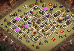 War Base Layout TH11, Diseño Guerra Ayuntamiento 11