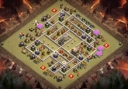 TH11 War Base Layout, Diseño de Guerra Ayuntamiento 11