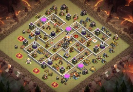 War Base Layout TH11, Diseño de Guerra Ayuntamiento 11