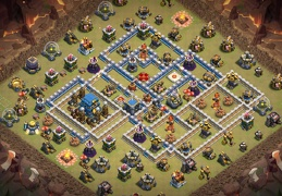 #0934 Mega Kill Zone War Base Layout TH12, Diseño Guerra Ayuntamiento 12
