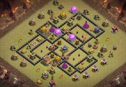 War Base Layout for TH8, Diseño de Guerra Ayuntamiento 8