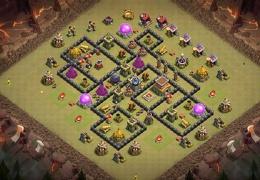 #0999 War Base Layout TH8, Diseño de Guerra Ayuntamiento 8