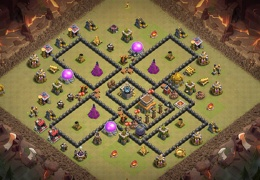TH8 Kill Zone War Base, Castillo Centrado, Diseño de Guerra con Kill Zone