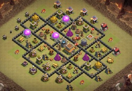 War Base Layout for TH8, Diseño Guerra Ayuntamiento 8