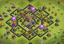 Trophy Base Layout TH8, Proteger Elixir Oscuro y Subida de Copas