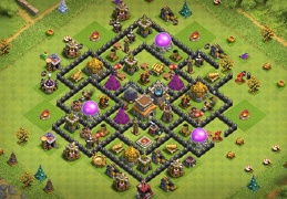 Protect Gold and Elixir Base Layout TH8, Proteger Recursos Oro y Elixir