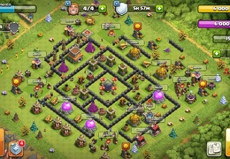 Protect Dark Elixir Base Layout TH8, Proteger Elixir Oscuro Ayuntamiento 8
