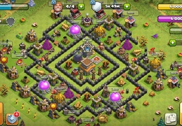 Hybrid Base Layout War and Trophy TH8, Subida de Copas y Guerra