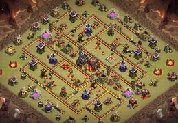 TH10 War and Trophy Base Layout, Guerra y Subida de Copas Ayuntamiento 12