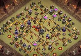 War and Trophy Base layout TH10, Guerra y Subida de Copas Ayuntamiento 10