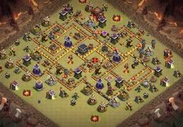 War Base Layout TH10, DIseño Guerra Ayuntamiento 10