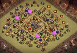 War Base Layout for Town Hall 10, Diseño de Guerra Ayuntamiento 10