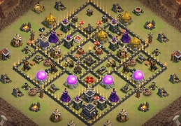 War Base Layout for TH9, Tesla Troll, Diseño Guerra Ayuntamiento 9