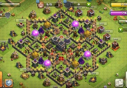 #1078 Hybrid Farming and Trophy Base Layout TH9, Subida de Copas y Guerra