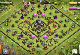 Hybrid Extended War and Trophy Base layout, Diseño Extendido Trofeos y Guerra