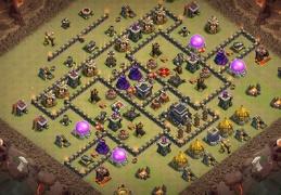 War Base Layout TH9, Diseño de Guerra Ayuntamiento 9