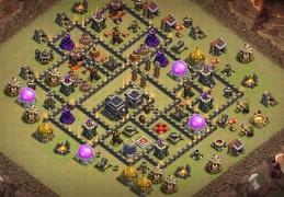 War Base Layout for Town Hall 9, Guerra Ayuntamiento 9