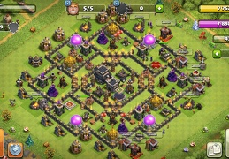 #1086 Hybrid War, Trophy and Farming Base Layout TH9, Diseño Híbrido Ayuntamiento 9