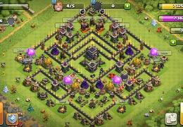 Trophy and War Base Layout TH9, Subida de Copas y Guerra