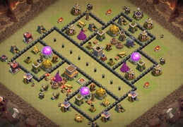 War Base Layout TH8, Diseño Guerra Ayuntamiento 8
