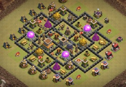 Hybrid War and FArming Base Layout TH8, Guerra y Farming Ayuntamiento 8