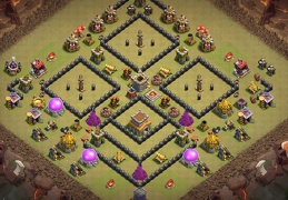 PRO War Base Layout TH8, Diseño PRO Guerra Ayuntamiento 8
