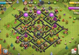 Trophy and Farming Base Layout TH8, Subida de Copas y Proteger Elixir Oscuro