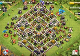 #1118 Trophy Base Layout TH11, Subida de Copas Ayuntamiento 11
