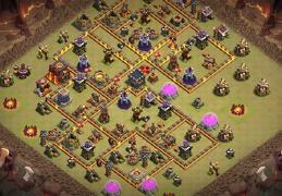 War Base Layout TH10, Diseño de Guerra Ayuntamiento 10