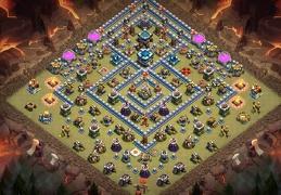 War Base Layout TH13, DIseño Guerra Ayuntamiento 13