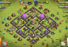 #1163 Farming Base TH7, Diseño Proteger Elixir Oscuro Ayuntamiento 7