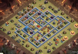 #1184 Competitive War Base Layout for TH12, Diseño PRO Guerra Ayuntamiento 12