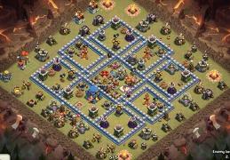#1185 War Base for Town Hall 12, Pro Player, Diseño de Guerra Ayuntamiento 12