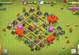 #1240 Farming and Trophies Base Layout TH5, Diseño Para Ayuntamiento 5