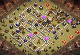 #1252 Farming and War Base Layout TH11, Subida de Copas y Farming Oscuro