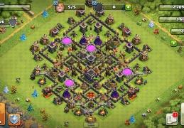 #1298 Farming Base Layout TH9, Proteger Elixir Oscuro Ayuntamiento 9