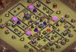#1305 War Base Layout for TH9 CWL, Diseño de Guerra Ayuntamiento 9