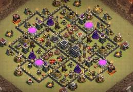 #1306 War Base Layout TH9, CWL, Diseño de Guerra Ayuntamiento 9