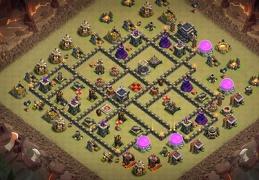 #1319 War Base Layout for TH9, Diseño Guerra Ayuntamiento Troll Zone