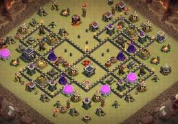 #1323 War Base Layout for TH9, Diseño Ayuntamiento 9 Guerra