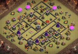 #1324 War Base Layout for TH9, Diseño Guerra Ayuntamiento 9