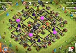 #1325 Farming and Trophy Base Layout for TH9, Proteger Elixir OScuro